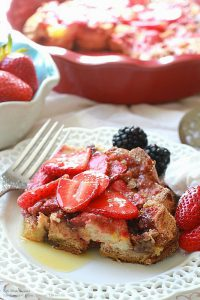 Strawberry Cream Cheese French Toast Bake- Easter Brunch Ideas from Mohawk Home