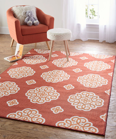 New Medallion in Flame- Pantone- Spring Trends- Kids Room