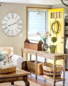 Bright Yellow Door- Entryway