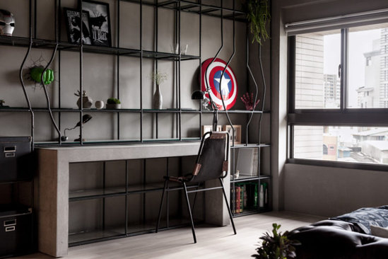Comic Book Character Desk- Man Cave Ideas from Mohawk Home