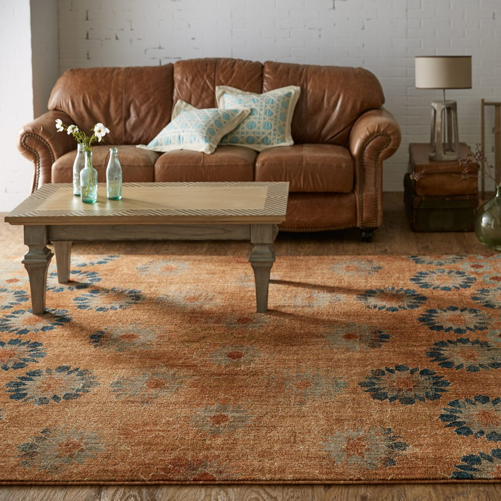 Vintage chic area rug from Mohawk Home Studio by Patina Vie collection, scheduled to launch online in fall 2017.