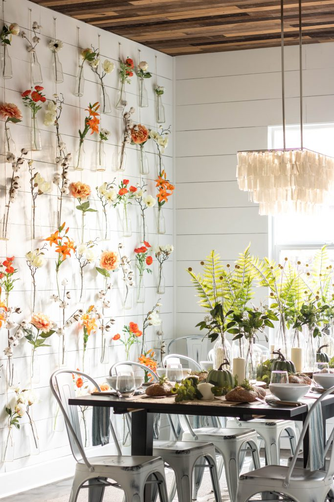 DIY Faux Flower Wall by Jessica Matos on the Mohawk Home blog