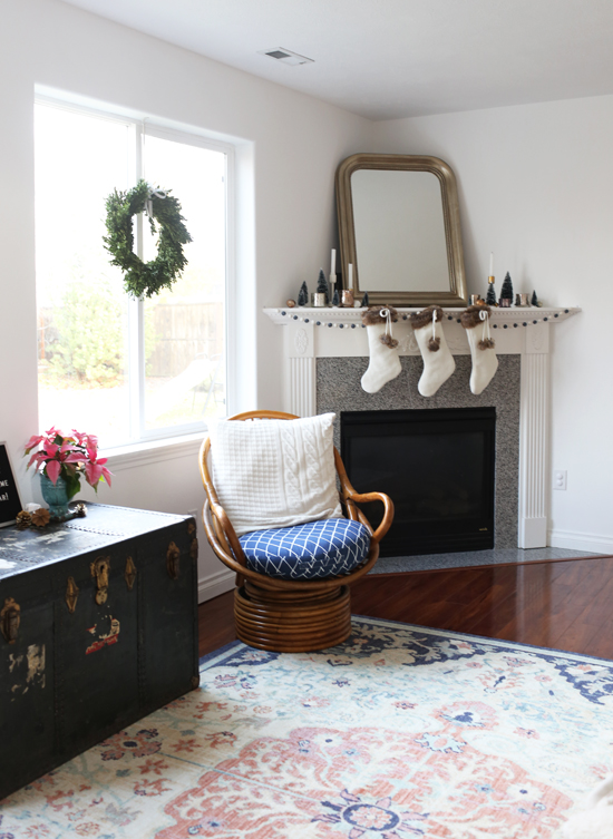 Mohawk Holiday Home Tour featuring At Home in Love and Mohawk's Heirloom Tamur rug
