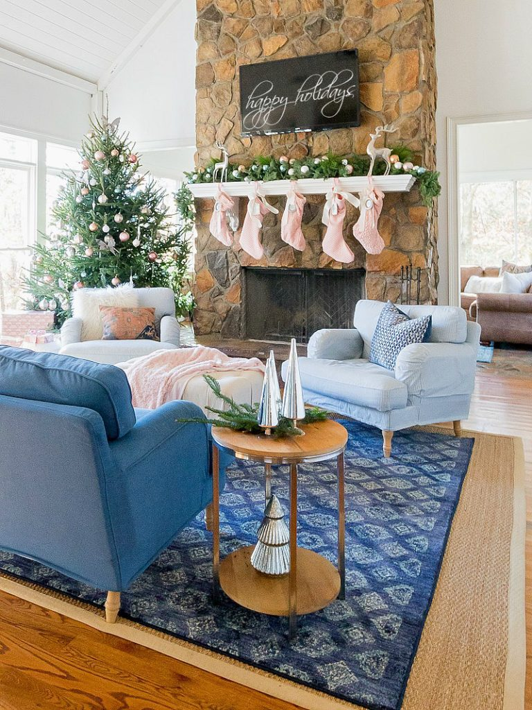 Non-Traditional Holiday Color Combinations- Blush and Navy- Duke Manor Farm