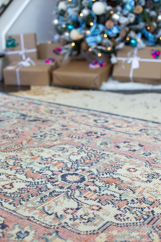 Mohawk Holiday Home Tour 2017- Heirloom Thame rug