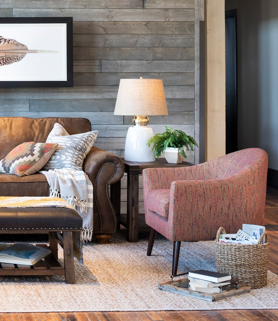 How to style a brown sofa mohawk home for Fun living room chairs