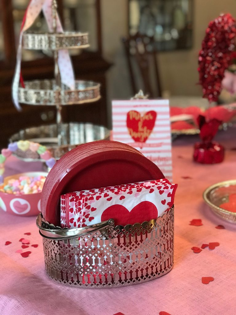 Valentine's Day Tea Party decor