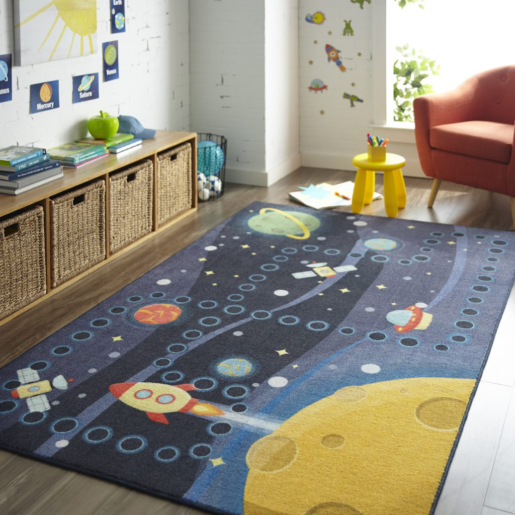Mohawk Home Space Rocket Educational Area Rug Z0334 A416