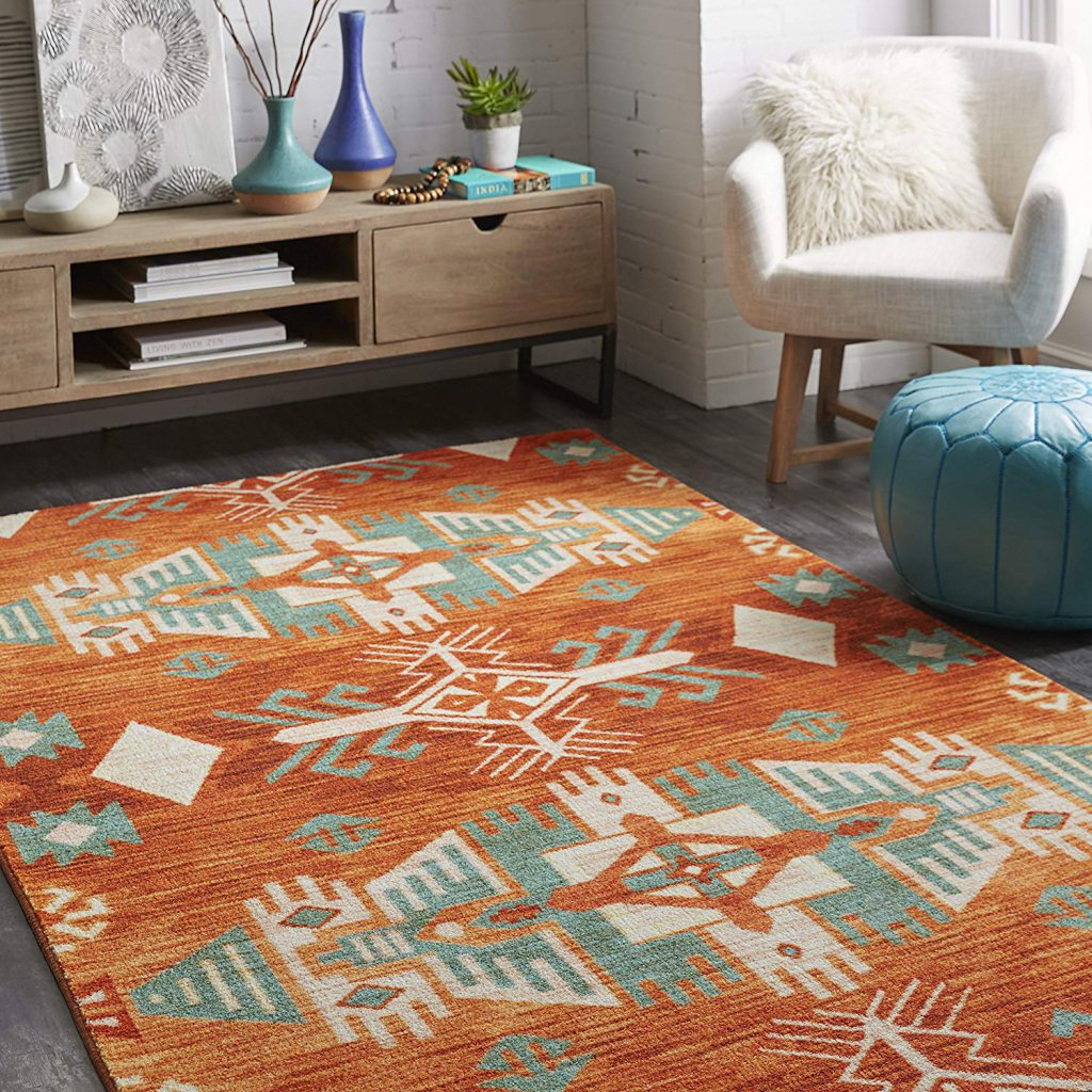 Mohawk Home Prismatic Eidenau Rug in Orange