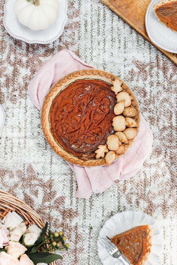 fall picnic and pumpkin pie recipe