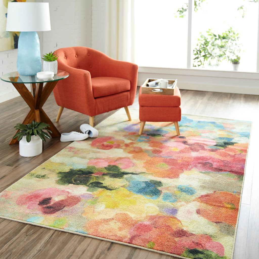 Mohawk Prismatic Blurred Blossoms Area Rug
