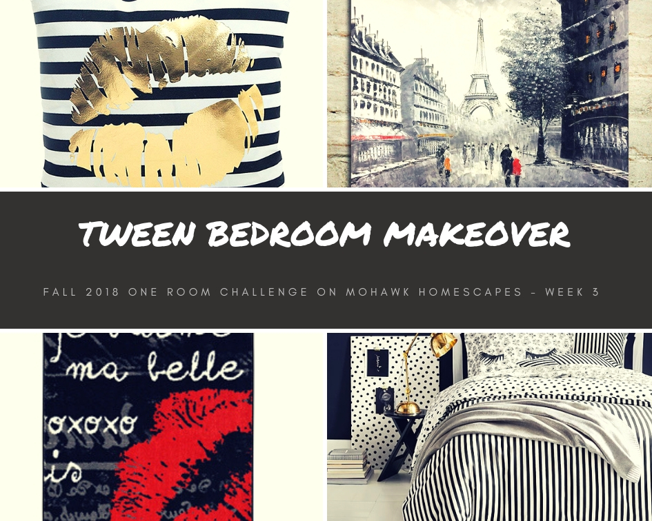tween bedroom makeover one room challenge fall 2018