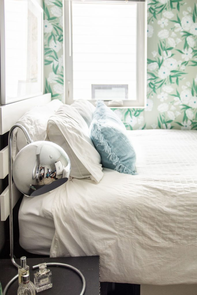 Back to campus style is easy to achieve with a few bold touches, like wallpaper, a cool metallic lamp. accent pillows or a new area rug. from Mohawk Home.