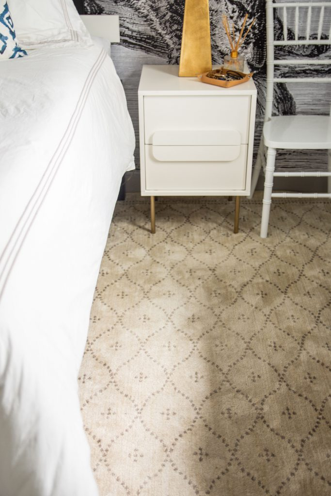 Back to campus style is a breeze when you use an area rug to freshen up an underwhelming space.