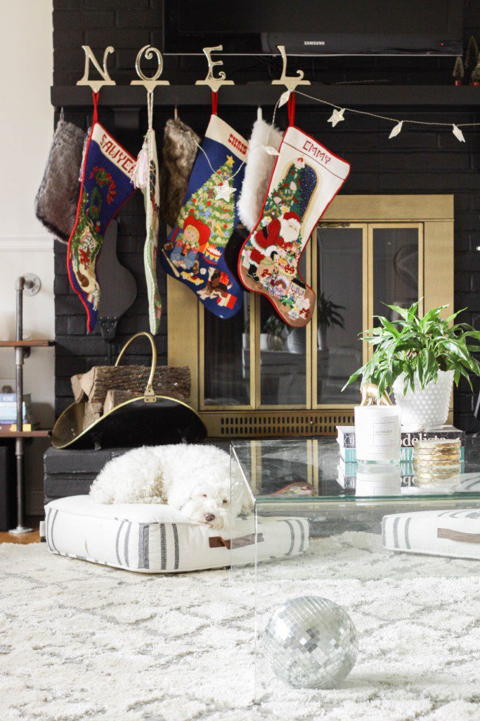 Mohawk Home Holiday Home Tour featuring Cassie Bustamante and the Nomad Carlsbad area rug in gray