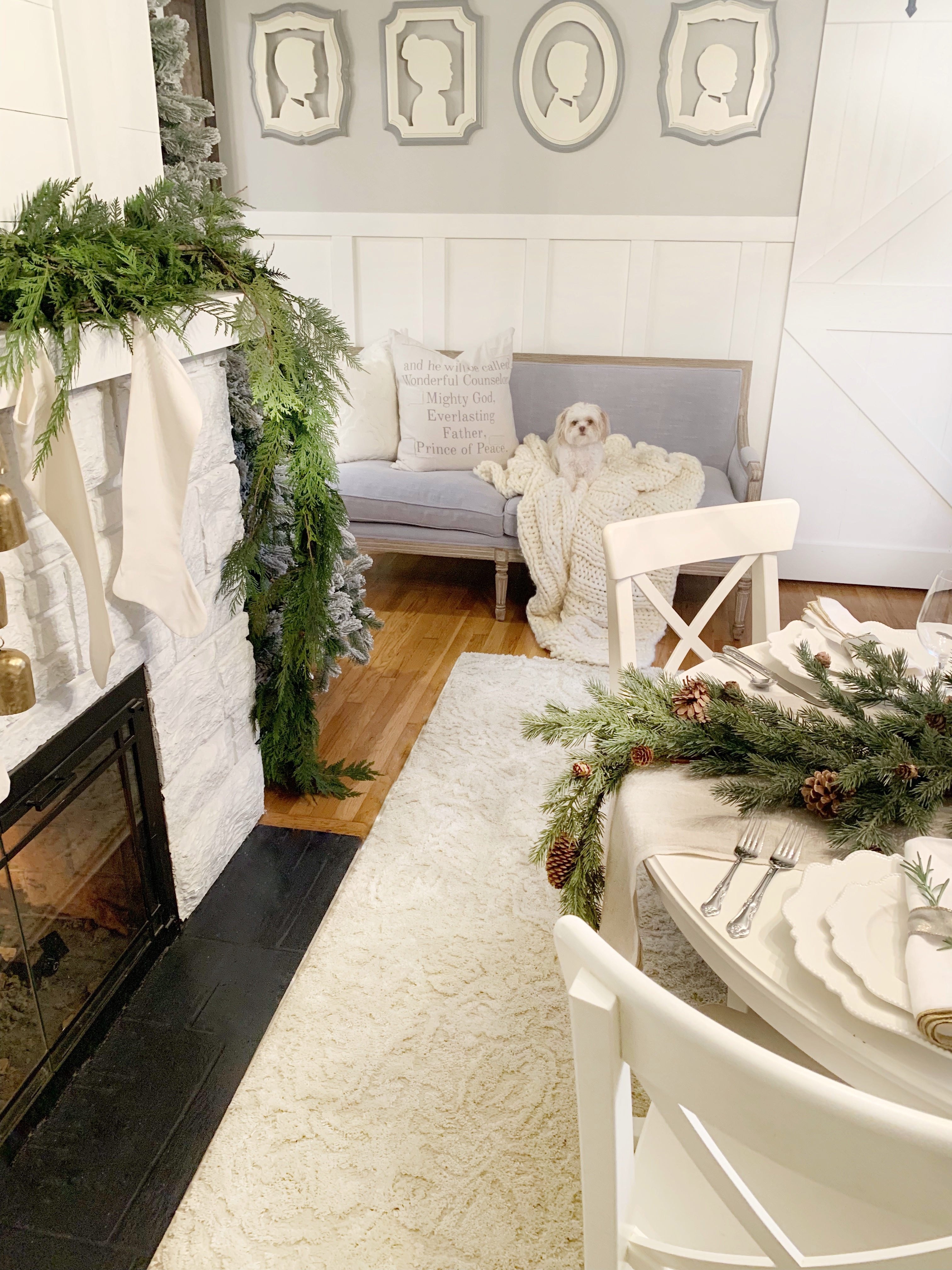 In A Season So Often Overdone, Sarahu0027s Holiday Dining Room Decor Is Simple  But Chic. The White And Misty Gray Walls Will Keep This Room Bright, ...