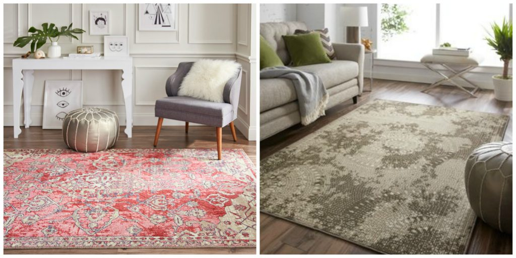 distressed vintage area rugs by Mohawk Home