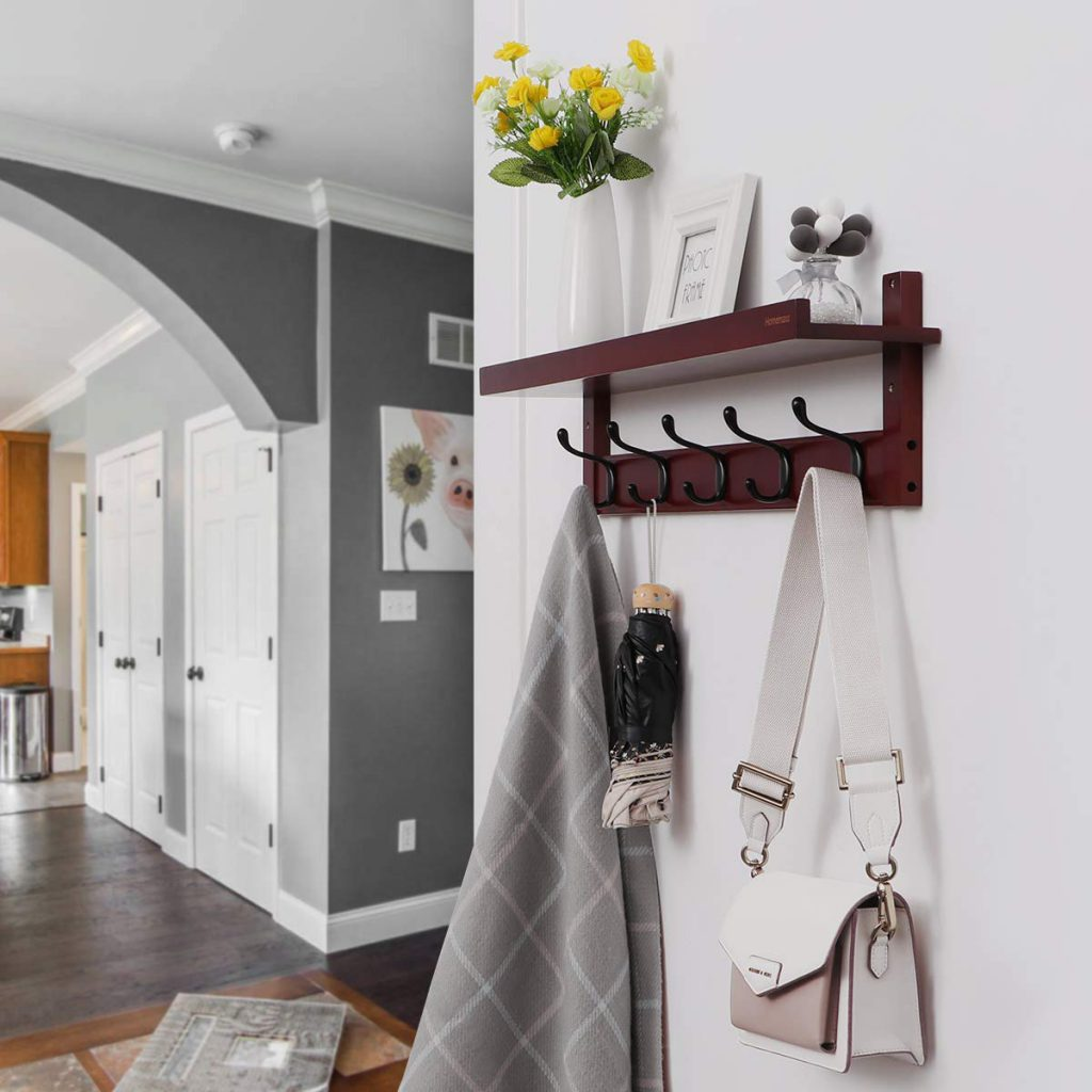 Bamboo hooks for entryways