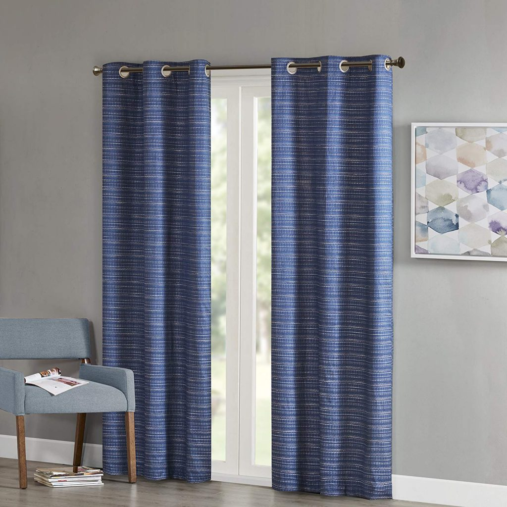 Blue curtains from Amazon