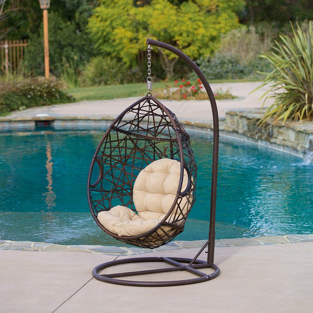 Hanging chair for tropical decor from Amazon