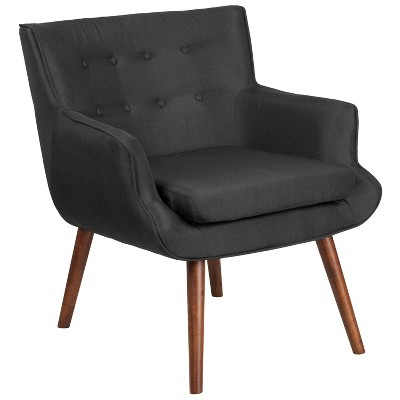 high legged, black tufted chair from Target