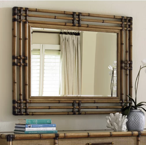 bamboo mirror from Wayfair