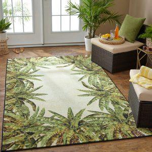 Mohawk Home Verde Palm Border area rug