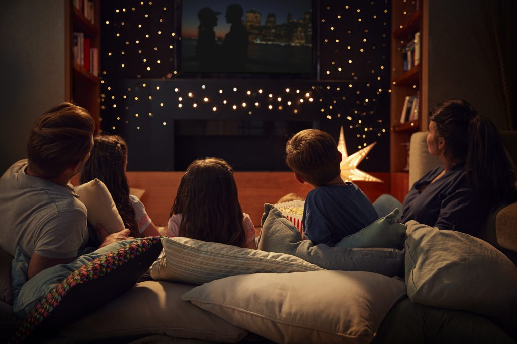 At home family movie night and other Staycation ideas on Homescapes