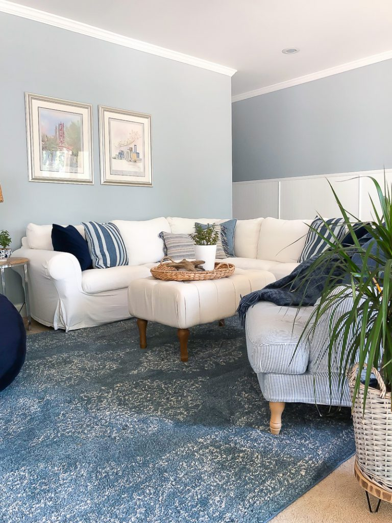Paxton area rug in blue from Mohawk Home