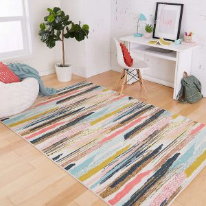 Mohawk Home Brushed Stripe area rug