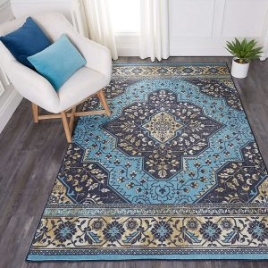 Mohawk Home Rhine area rug in Navy