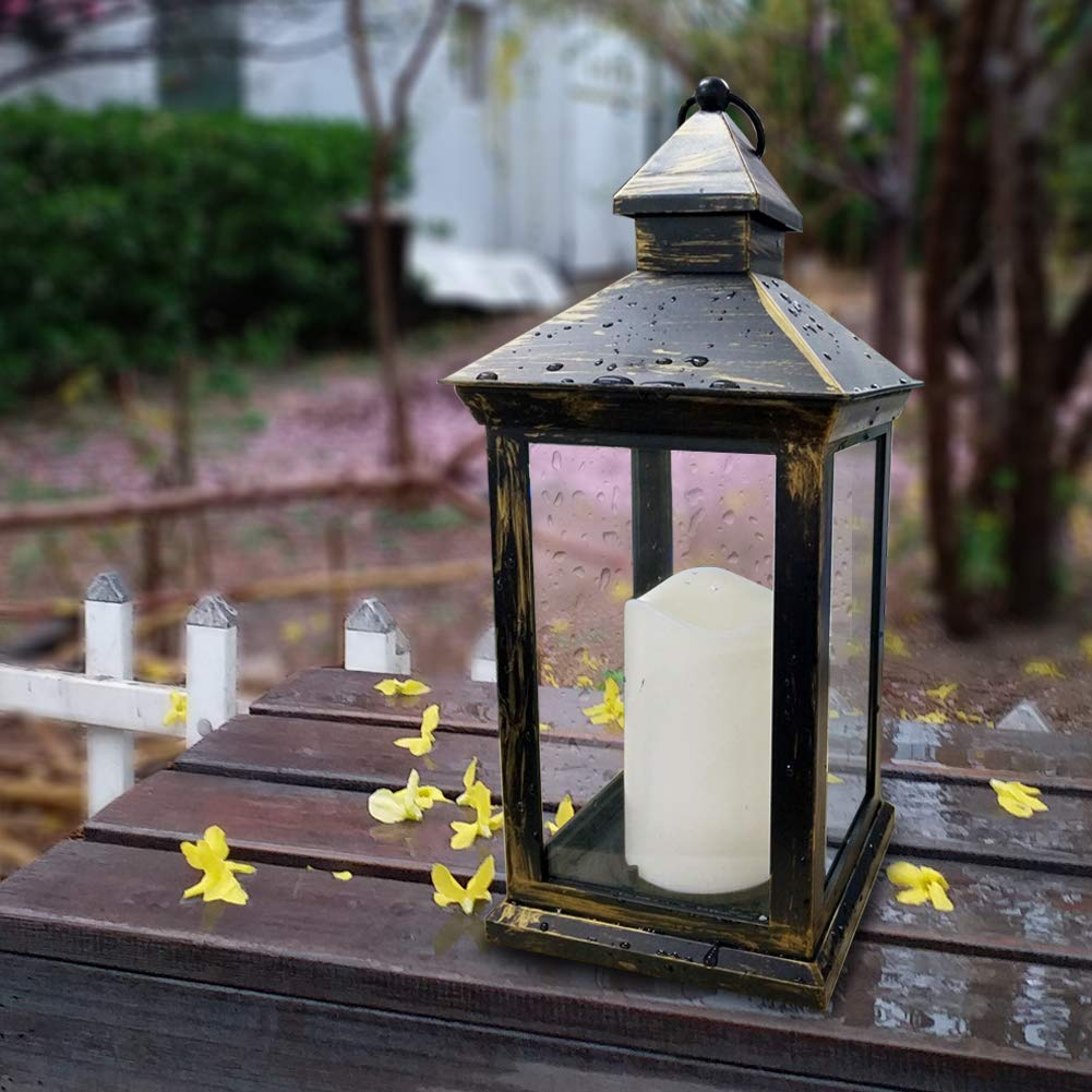 tall vintage pillar lantern on sale at Amazon