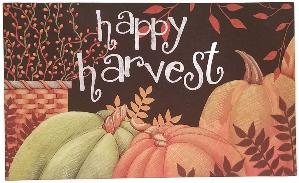 Happy Harvest doormat from Mohawk Home on sale at Amazon