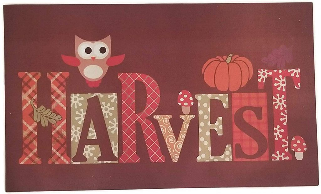 Fall harvest doormat from Mohawk Home on Amazon