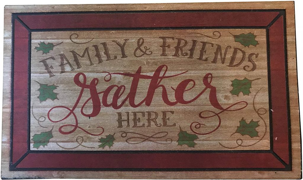 Family and friends gather here doormat from Mohawk Home