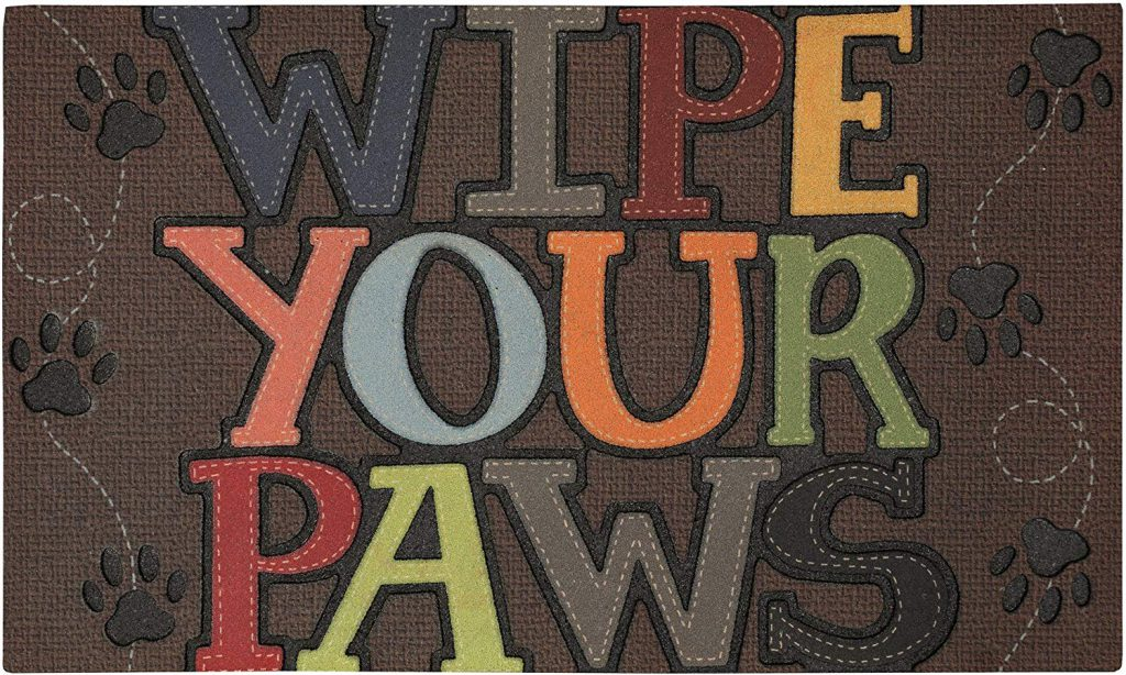 Pet friendly wipe your paws mat from Mohawk Home on sale at Amazon