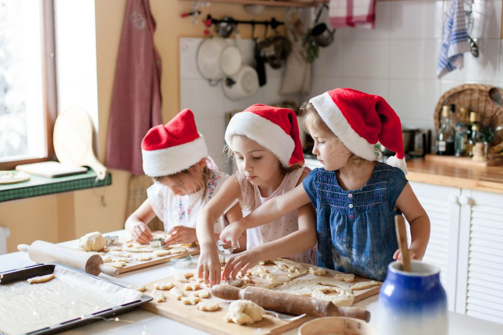 Baking Christmas cookies for the holidays