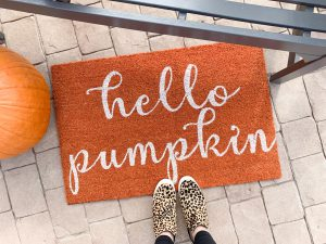 Hello Pumpkin doormat from Mohawk Home