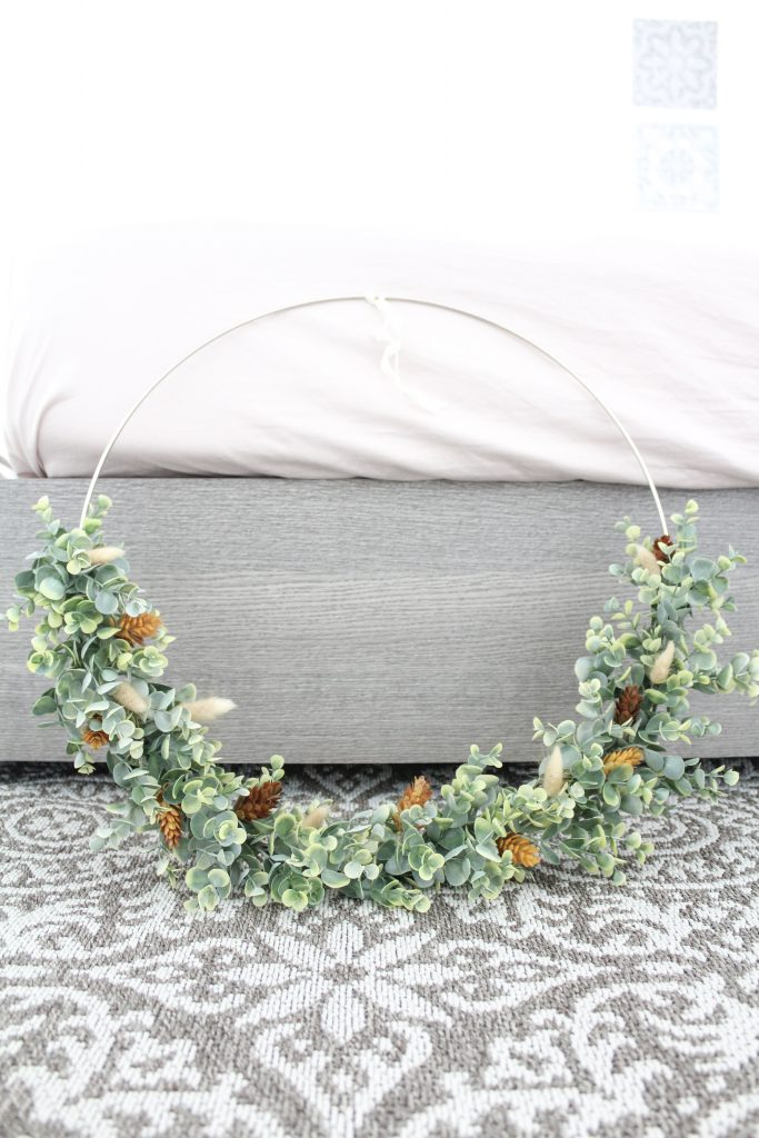 Green wreath for over the master bed