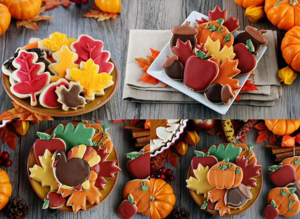 Thanksgiving cookie cutters for holiday baking