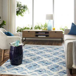 Mohawk Home Almafi stamp in navy
